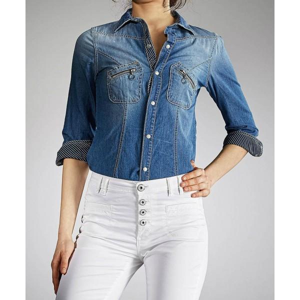 4690a92b5834 Γυναικεία Τζιν  Πουκαμισο Jeans